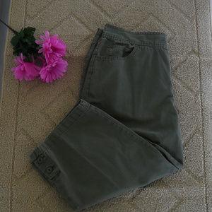 Olive Green Capri's - Size 16W